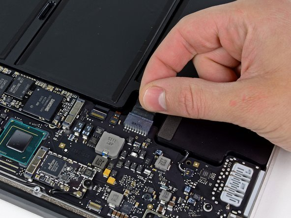 As a precaution against accidental discharge or shock, disconnect the battery connector from the logic board.