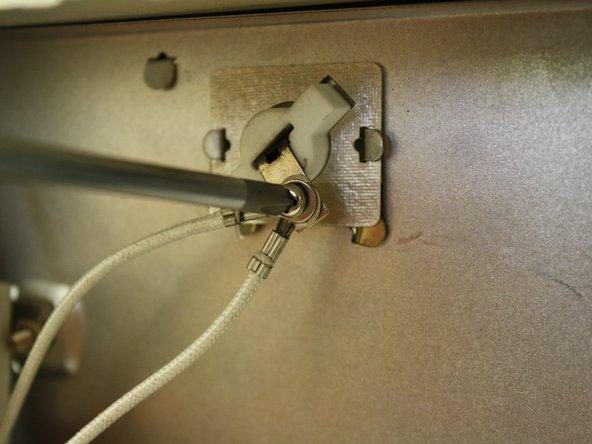 Retighten screw to secure lead.