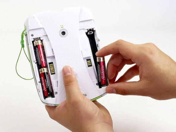 Remove all four AA alkaline batteries from the device.