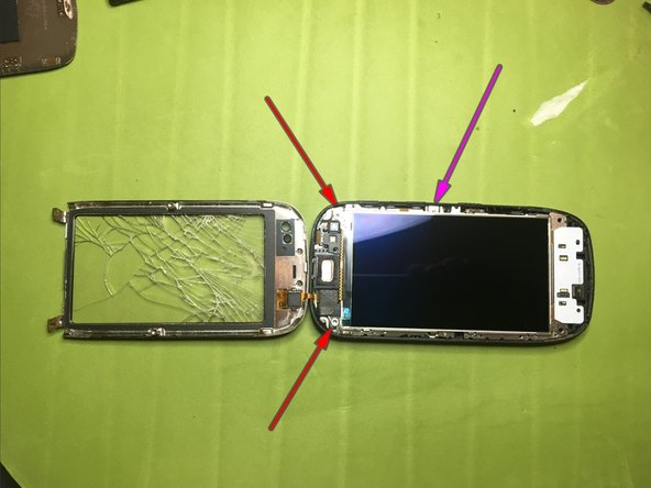if the display needs to be replaced and then you have no problems if it is broken in the door, proceed with a heat source and a thin tool to be able to break it from underneath