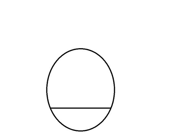 using the Ellipse tool, draw around the line, tapping at its ends.