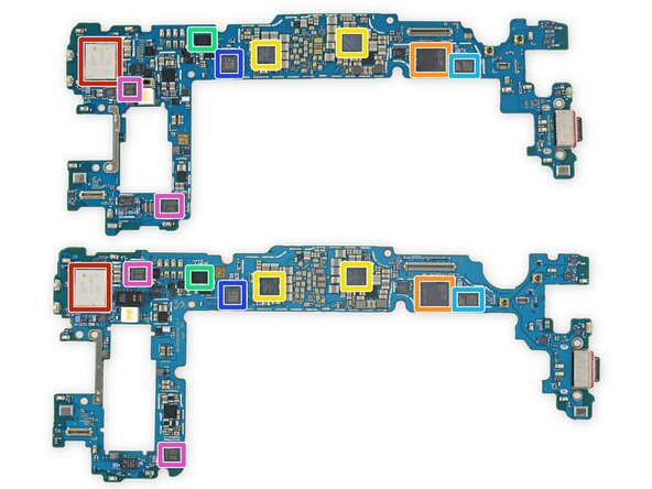 Never one to under-deliver, Samsung packed even more silicon on the flip sides:
