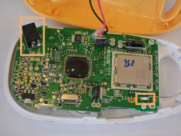 Image 2/2: Likewise check the soldering joints for the antenna, and the power jack, and 	speakers, in order to make surethe issue is with the motherboard and not the wires or other components.