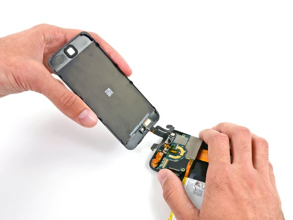 Remove the display assembly from the iPod.