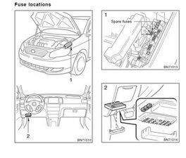 2007 toyota corrolla sport fuse box on fuse block
