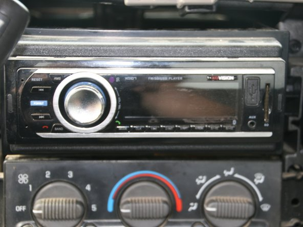 Press the power button on new radio to insure that it works properly.