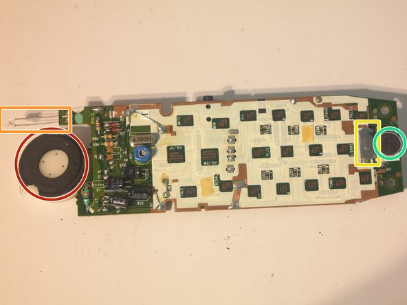 Components on the main board:
