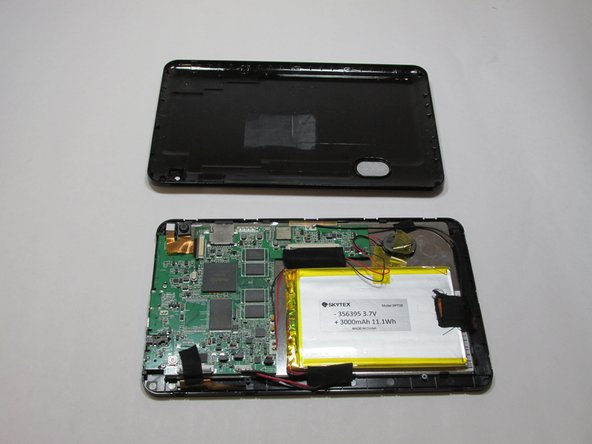 Remove the case and open the device