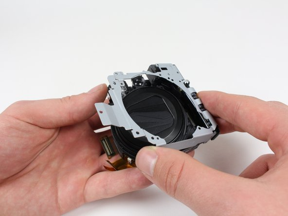 After you remove the metal frame, the lens will be by itself.