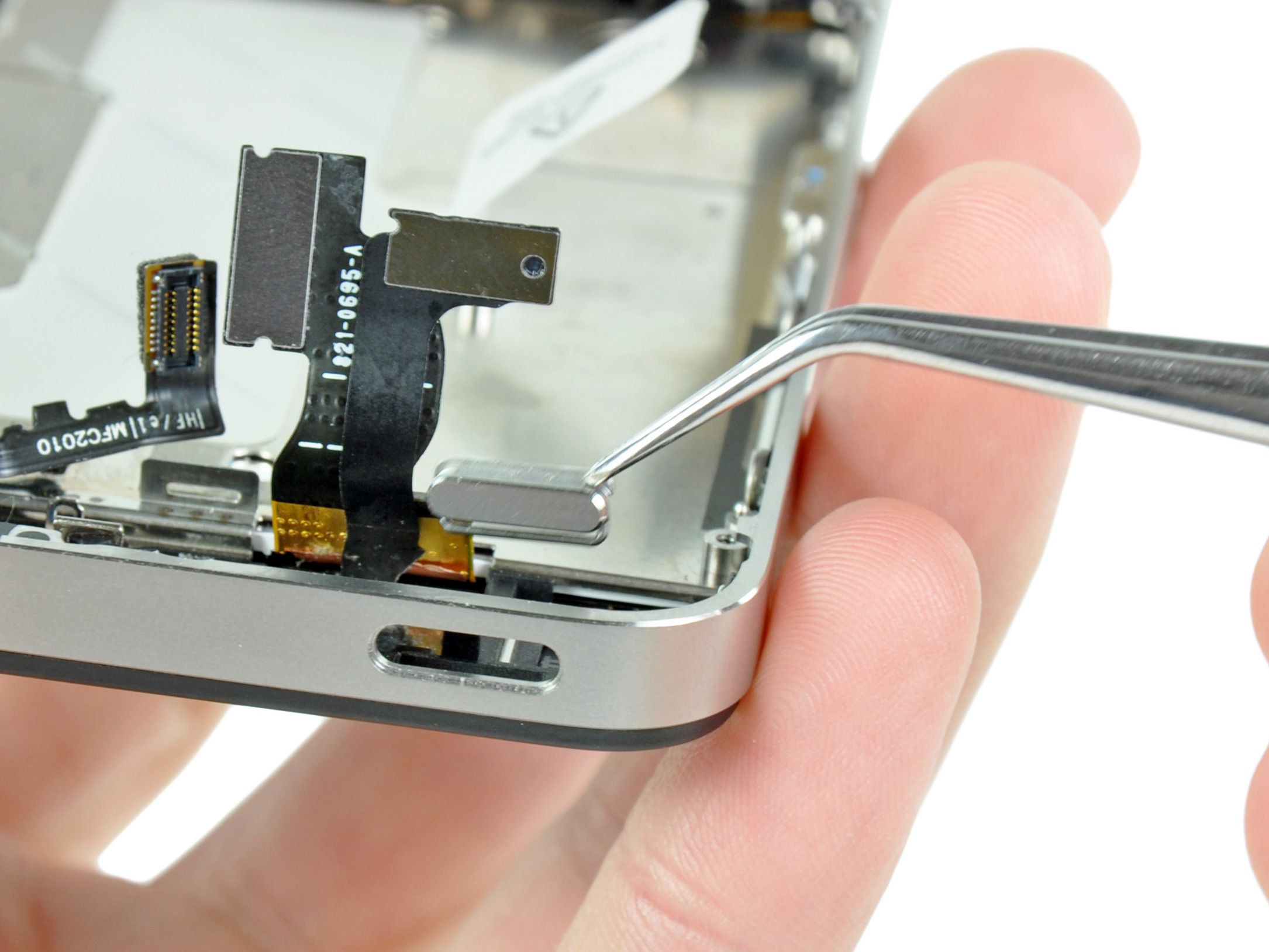 iphone 4 power button stuck iphone 4 power amp lock button replacement ifixit repair guide 9773