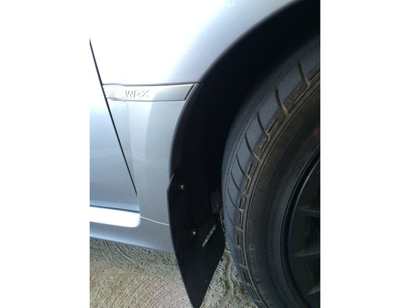 2013 Subaru Impreza WRX Mud Flaps Replacement