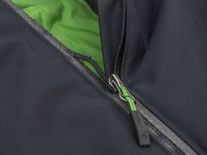A zip on a jacket