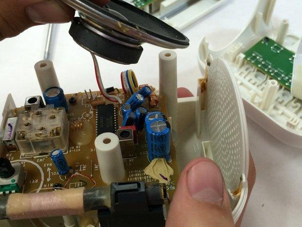 Remove the broken speaker.