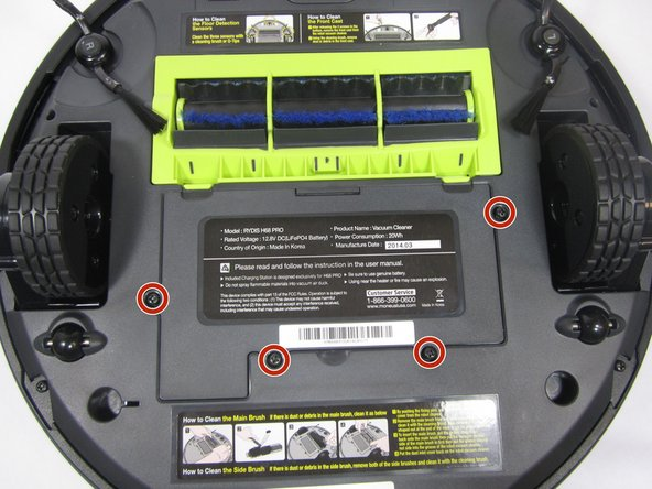 Image 1/2: Use a Phillips #1 screwdriver to remove the four 10mm screws that surround the battery cover.