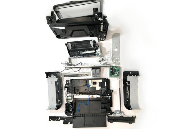 In 21 steps the Canon Pixma MP250 is taken apart.