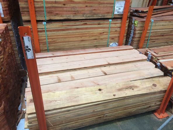 To add privacy and provide stability to an older fence, I headed to my local hardware store and bought a few fence boards. The boards pictured cost $3.85 a board and, depending on how tall you need your boards cut, one fence board provides approximately three privacy boards.