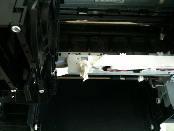 If you want test the printer you need insert paper, and cover 2 switch with paper scotch.