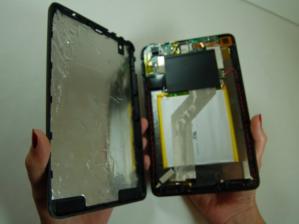 Your tablet should look like this once separated.