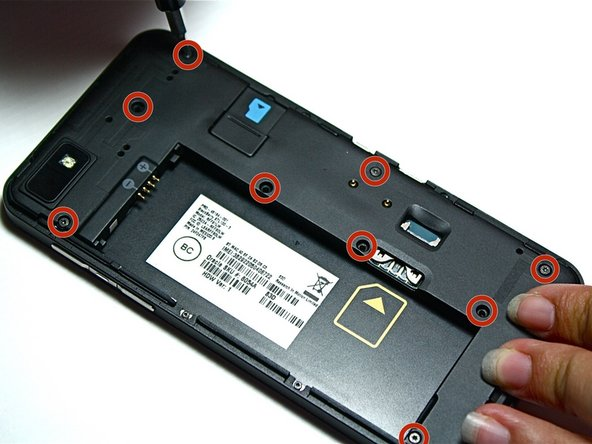 Use a T3 or T4 (sub-models vary) Torx screwdriver to remove the nine screws shown in the picture.
