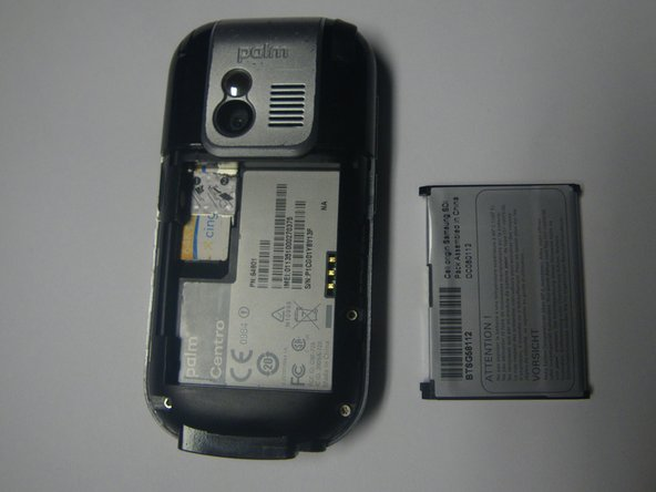 Phone with battery removed