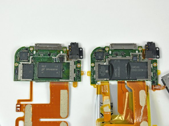 Image 1/1: Both machines have the same basic board design. However, on the 3rd gen, the NAND flash is split between two chips, leaving very little free space on the board.