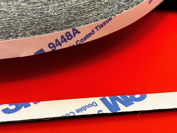 """The adhesive on the strips doesn't feel very tacky after removal, so you may want to add a layer of 3M 9448A """"double-coated tissue tape"""" to hold them on securely."""