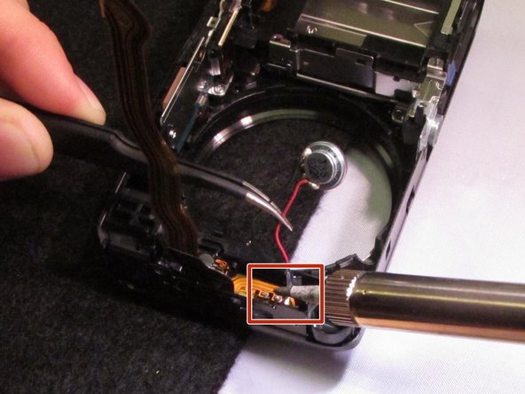 Remove the speaker by desoldering its wires.