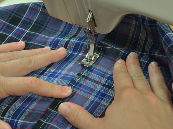 Image 2/3: You do not need to pin this seam, because the first seam will hold the garment in place.