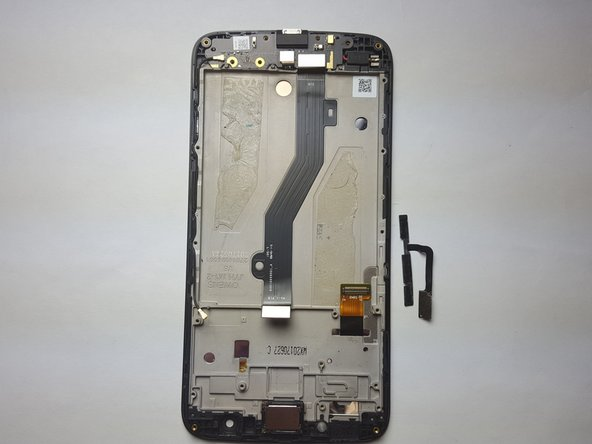 This is the result of removing the volume and power buttons flex from the phone.
