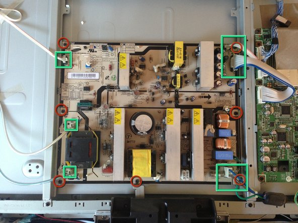 Removing the Samsung LA40R81BD 40in LCD TV Power Supply Board