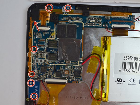 Remove all of the 4mm screws that attach the motherboard to the rest of the device.