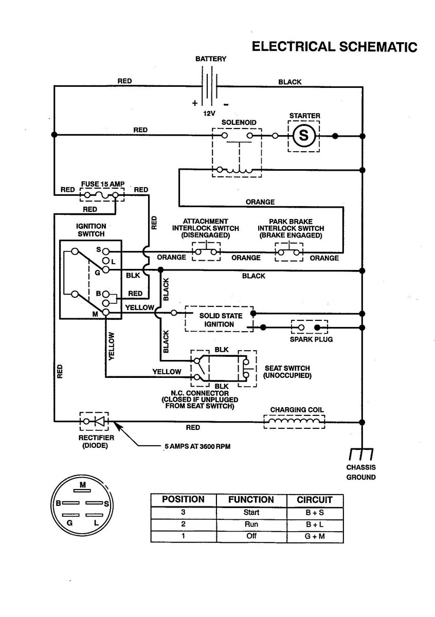 starter solenoid wiring diagram from battery to solenoid Craftsman