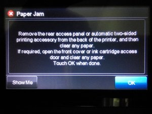 Paper Jam Error Caused By Cleaning Station return spring