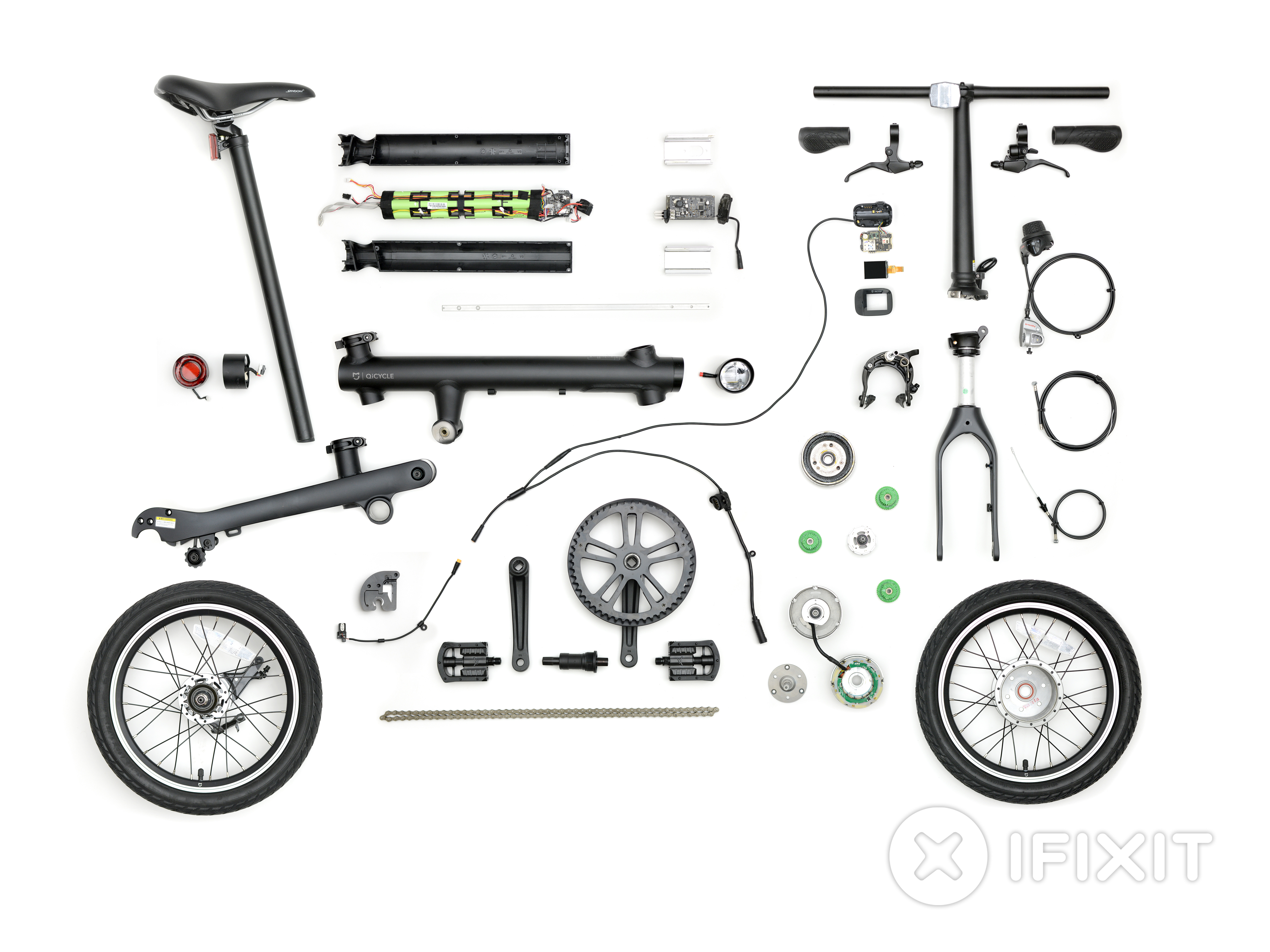 Xiaomi Mijia Qicycle Folding Electric Bike Teardown Ifixit Motorcycle Battery Wiring Diagram