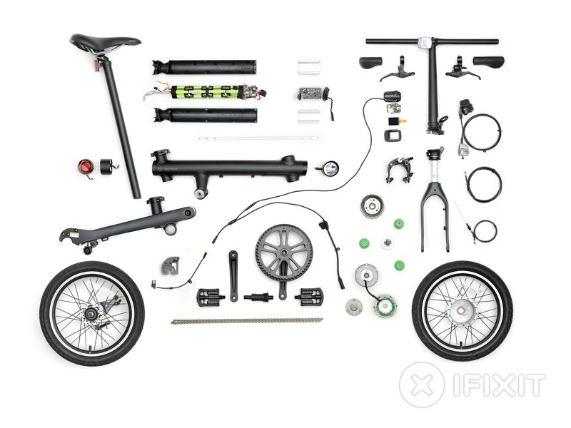 Xiaomi MiJia QiCycle Folding Electric Bike Teardown - iFixit