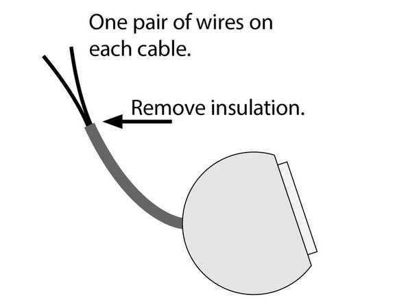 Remove the outer insulation on each speaker cable. Remove up to two inch of isolation. You can use a scissor or a wire stripper. Be ultra careful not to damage or cut the inner wires.