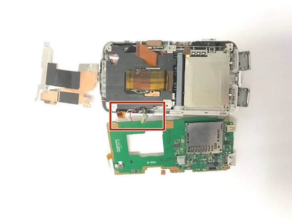 Pull the motherboard off of the main body of the camera.