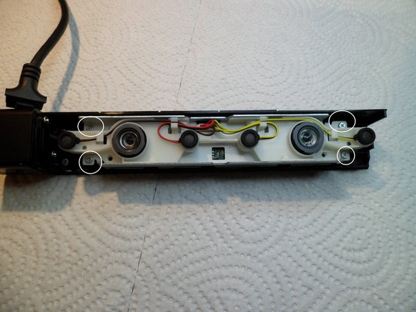 The other half of the housing is attached to a solid U-Frame with the electronics.