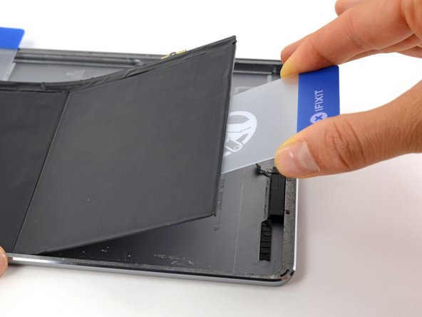 Image 3/3: If the battery begins to bend, use an iOpener to apply heat to the back of the battery and repeat the previous two steps to adequately break up the battery adhesive.