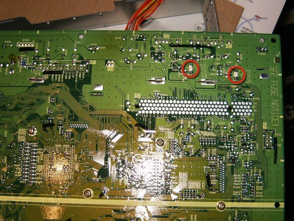 The main PCB has two fuses on the underside. In order to get to it, one will have to disassemble the module further. This was skipped in this repair.