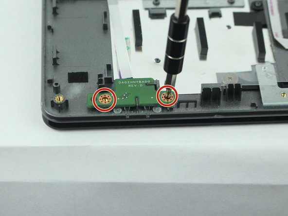 Remove the two 3.6 mm Phillips screws holding the LED sensors.