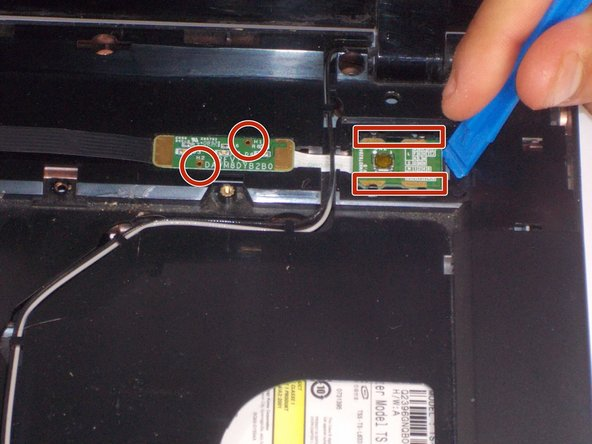 Image 1/1: There are four clips holding the button unit facing inward. Two push down clips hold the control unit.
