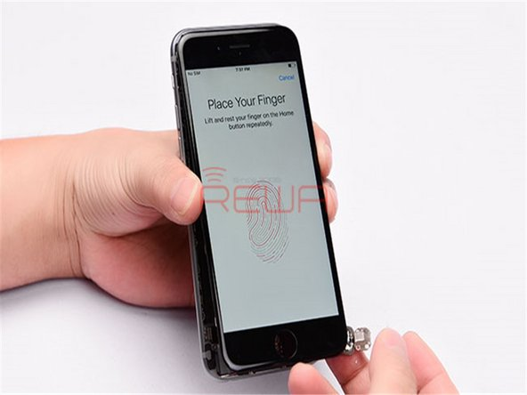 Get the Home Touch Sensor Assembly mounted on the screen.