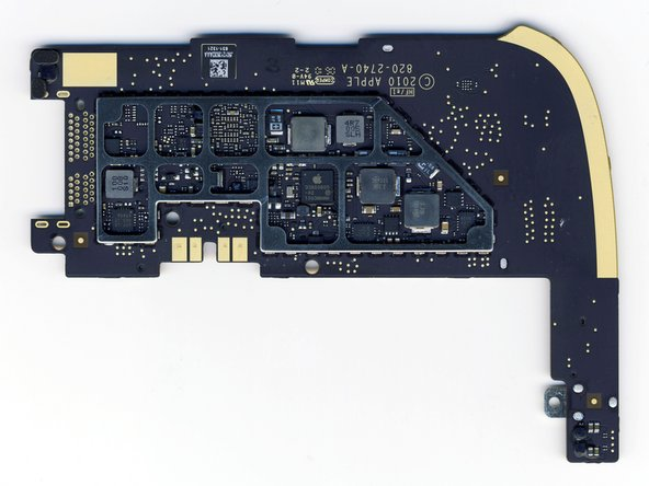 Image 2/2: It's clear from both hardware and [http://www.macrumors.com/2010/04/04/ipad-tech-specs-cortex-a8-256mb-ram-powervr-sgx-535/|software] that this is a single core processor, so it must be the ARM Cortex A8, and NOT the rumored multicore A9.