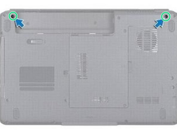 Replace the two screws at the bottom of the computer.
