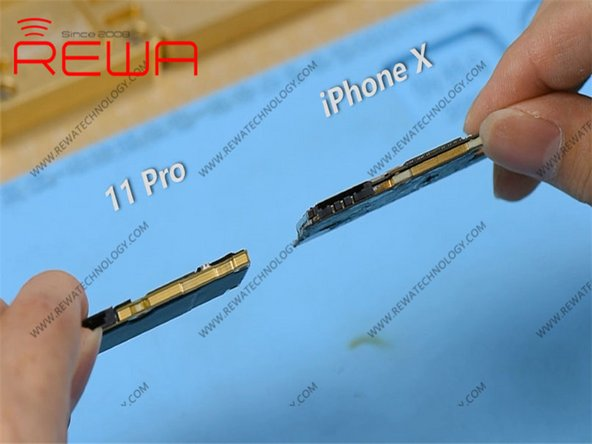 Compared with iPhone X series, iPhone 11 Pro's motherboard is smaller with a much denser component array. It is also thicker.