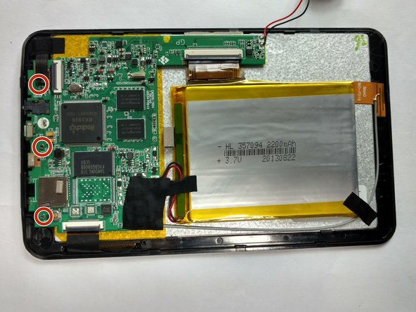 Use a Phillips 00 bit to remove 3 screws from the top of the tablet.