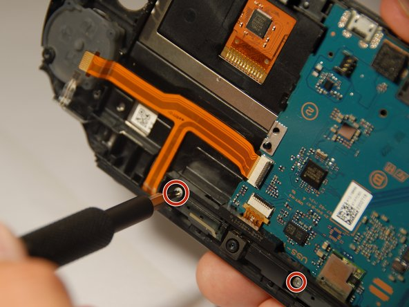 With the black casing removed, next we need to remove the top camera frame casing.