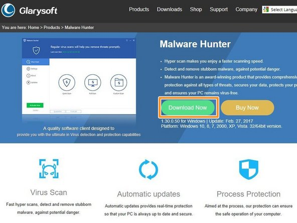 Malwarebytes is great anti-virus software. Go to the website and install it for free.