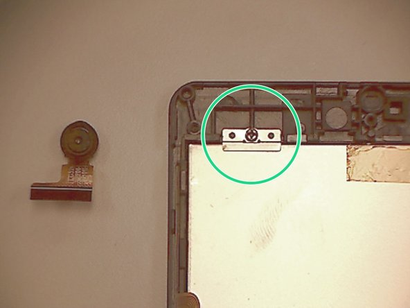 Image 1/2: Gently separate the LCD from the frame